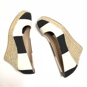 J. Crew Seville Stripe Espadrilles Wedge Shoes 10